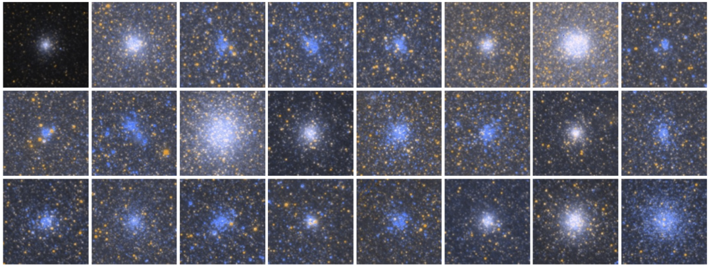 Gallery of Andromeda Star Clusters