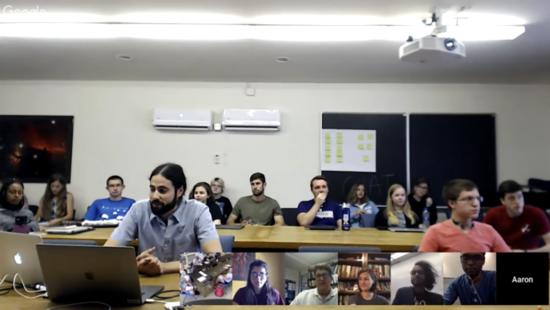 Screenshot of 2018 REU Panel