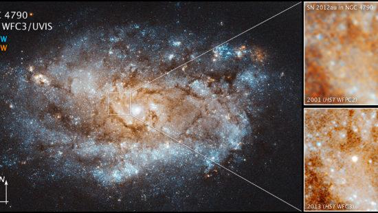 Supernova SN 2012au image generated by NASA, ESA and J. DePasquale