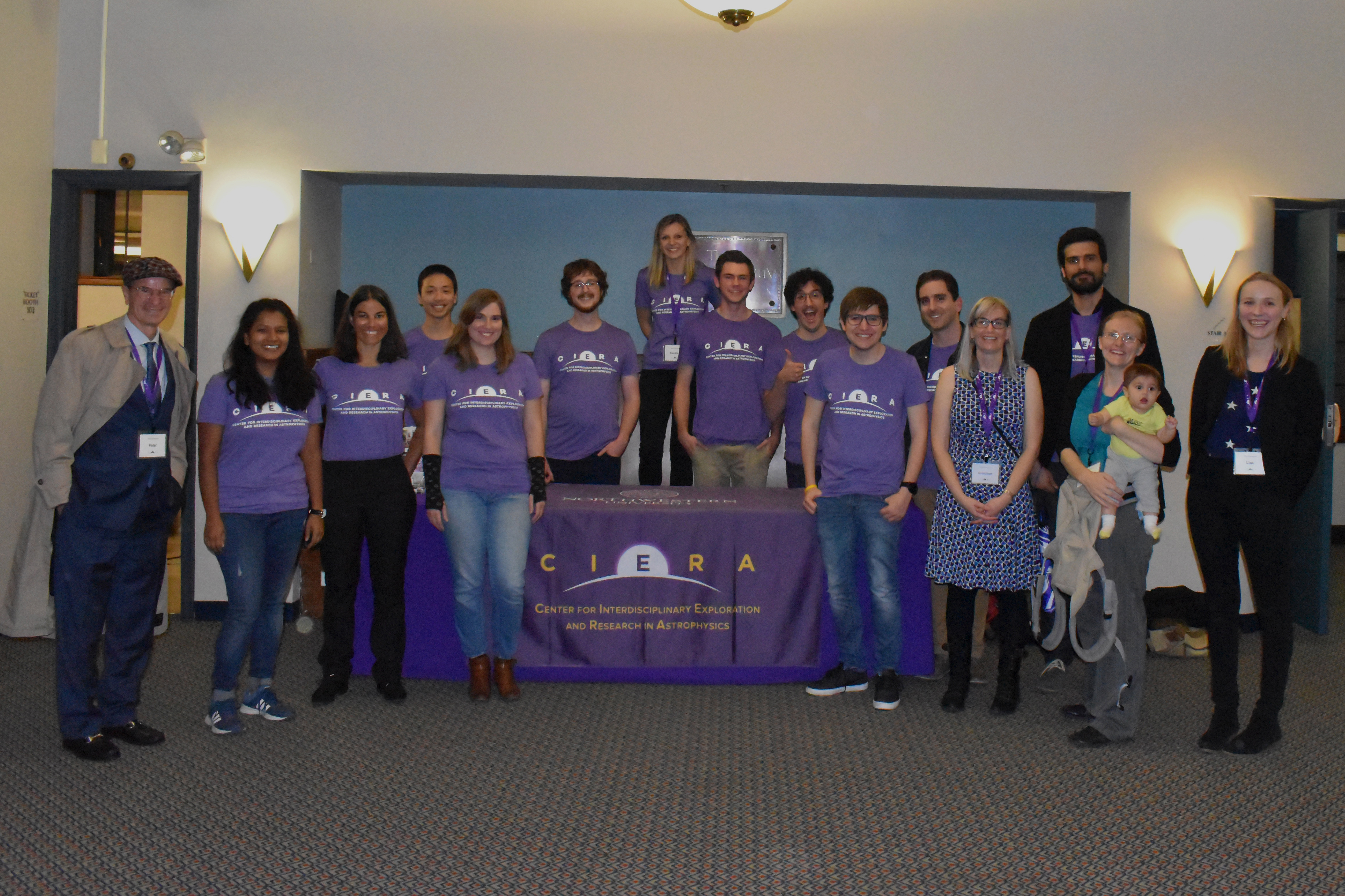 Group photo of CIERA staff who volunteered at the event.