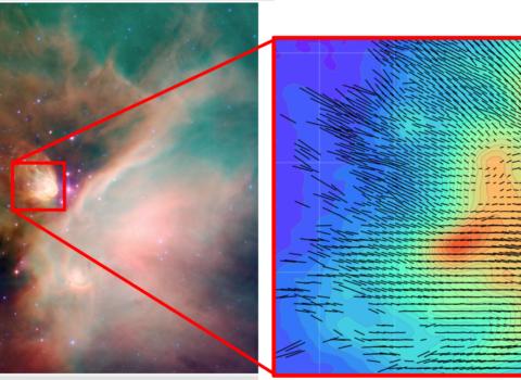 Rho Oph dark cloud observed with HAWC+