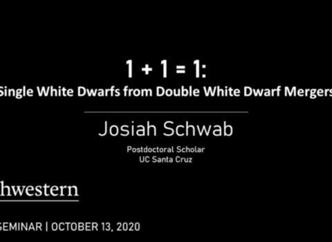 Josiah Schwab; Astrophysics Seminar Recording